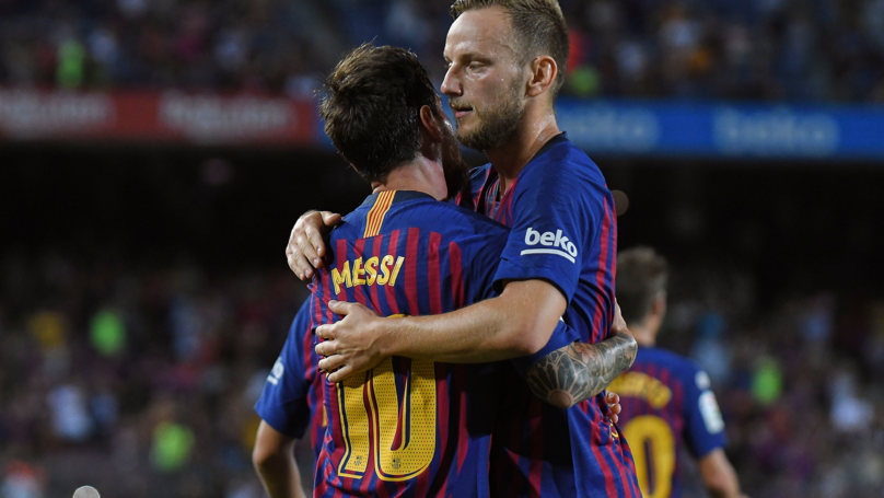 Ivan Rakitić Says Barcelona Players Celebrate Before Messi Even Takes A Free-Kick