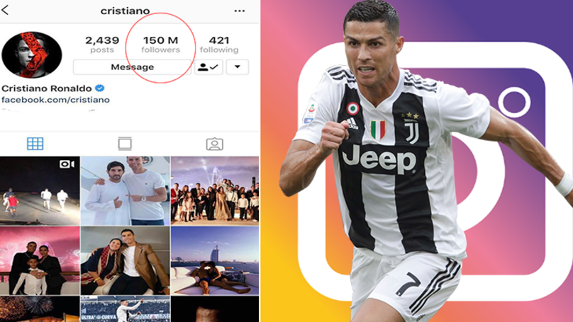 Cristiano Ronaldo Is The First Person With 150 Million Followers On Instagram