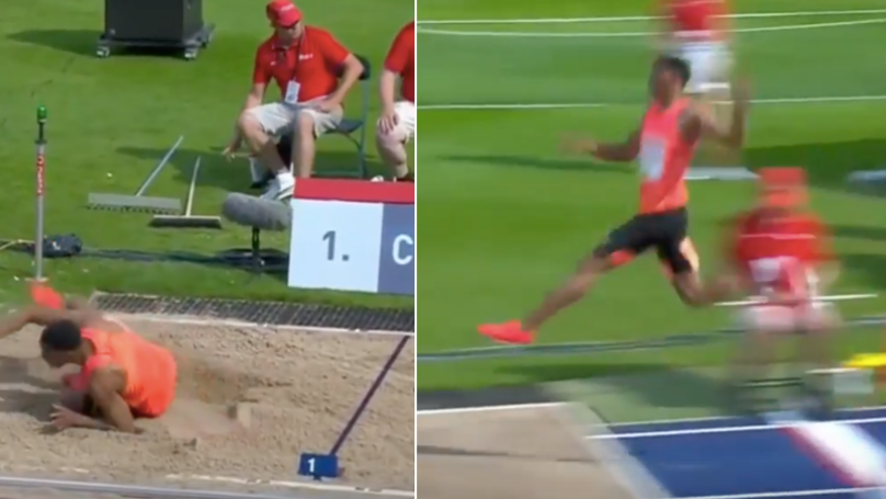 A 19-Year-Old Just Shocked The World With Longest Jump Since 1995
