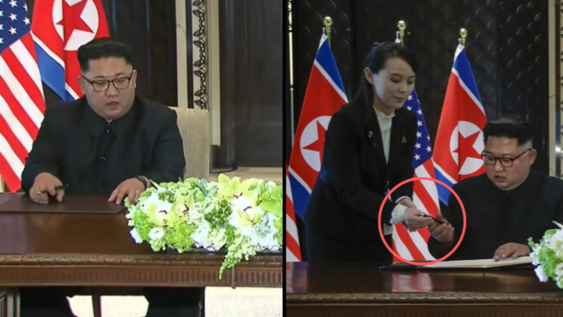 Kim Jong-Un Tried To Avoid Getting Poisoned By Pen In Meeting With Trump