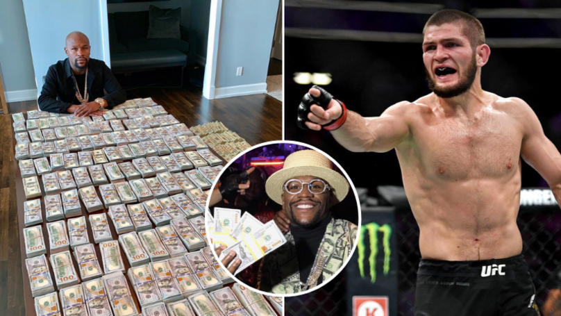 Khabib Nurmagomedov's Manager Claims Floyd Mayweather Is 'Begging' For A Fight After 'Running Out Of Money'