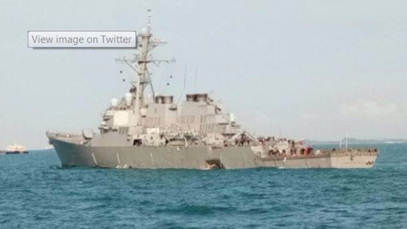 USS John S McCain: American Sailors Missing After Destroyer Collides With Oil Tanker