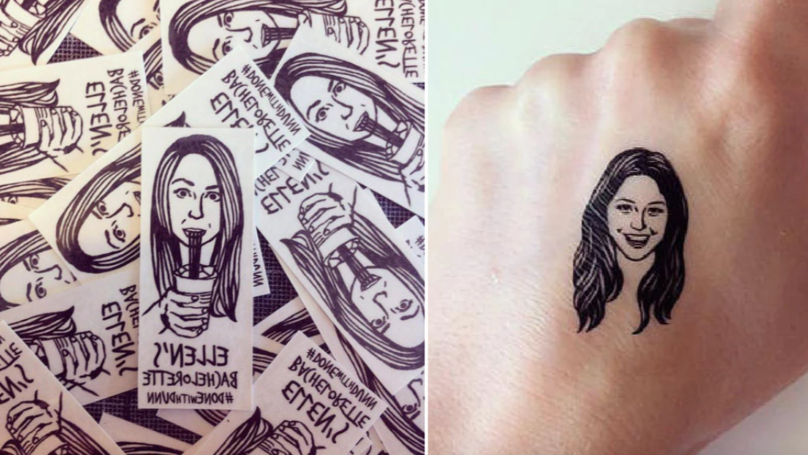 You Can Now Get Temporary Tattoos Of Your BFF's Face