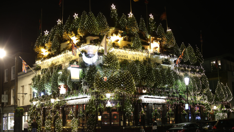 The Most Christmassy Pub In London Has Turned On Its Lights