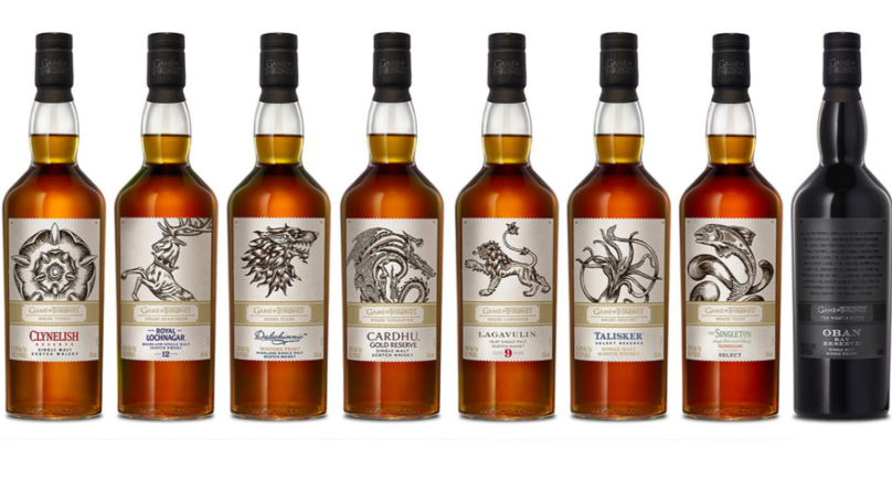 'Game of Thrones' Launches Eight Whiskies Representing Houses Of Westeros And Night's Watch
