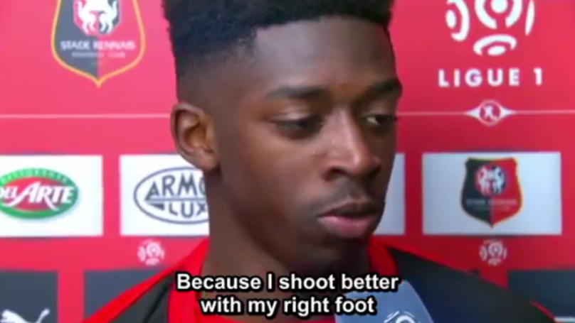 Ousmane Dembele Gave A Brilliant Answer About Which Foot Is His Strongest