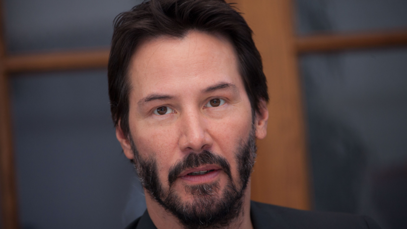 Keanu Reeves Poses For Photo At Couple's Wedding