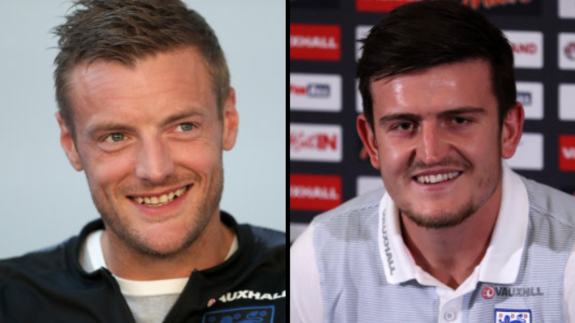 Jamie Vardy Sneaks Into England Press Conference, Asks Harry Maguire Hilarious Question