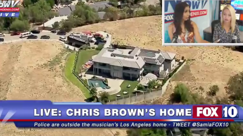Chris Brown's House Is Currently Surrounded By A SWAT Team