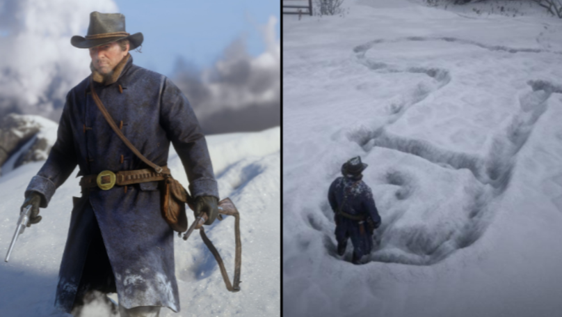People Are Using Red Dead Redemption 2's Unreal Graphics To Draw Penises