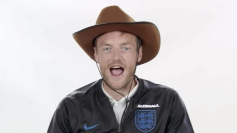 World Cup: England Striker Jamie Vardy Trying To Impersonate A Cowboy Is The Funniest Thing You'll See Today