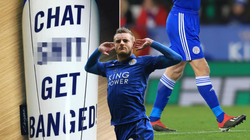 "Jamie Vardy Is Wearing ""Chat Sh*t Get Banged"" Shinpads This Afternoon"
