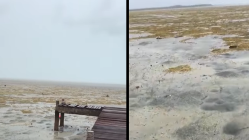 Hurricane Irma Sucks The Water Out Of The Sea In The Bahamas