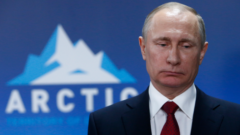 Russia Has Banned This Picture Of Putin Wearing Makeup