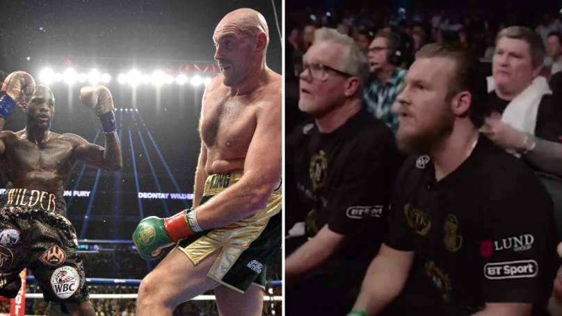 Tyson Fury's Coach's Reaction To The 12th Round Of The Deontay Wilder Fight