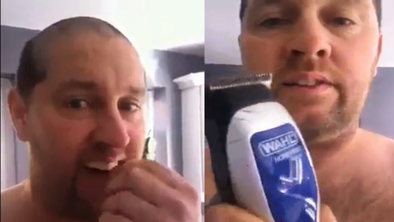 Guy's Hair Clippers Break Half Way Through Haircut And Leaves Him With Ridiculous Hairdo