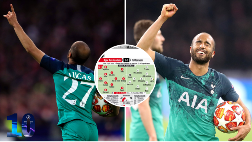 Lucas Moura Receives 10/10 Rating From L'Equipe After Incredible Hat-Trick