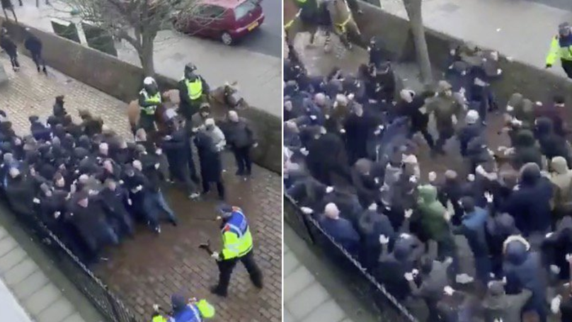 Everton Fan Brutally Attacked In Violent Scenes At Millwall Before FA Cup Clash