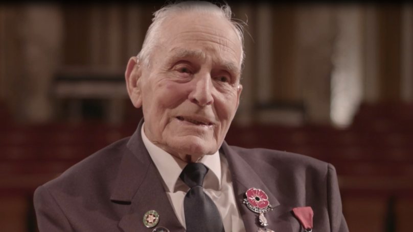Ninety-Three-Year Old Veteran John Dennett Tells His Story For Remembrance Day
