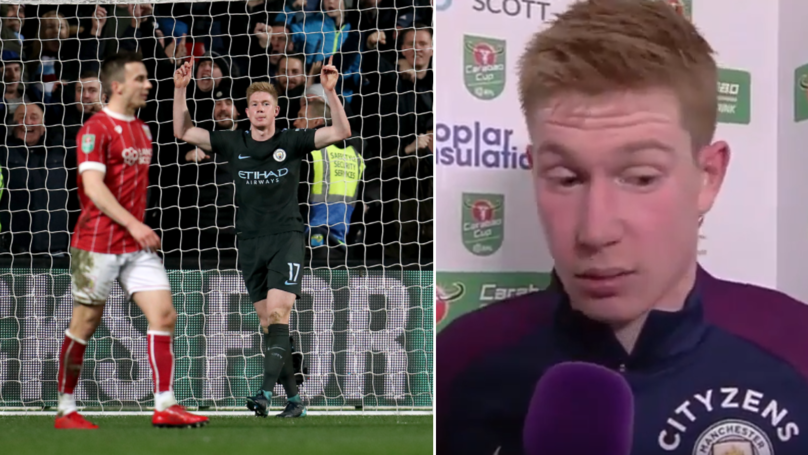 What Kevin De Bruyne Said About Bristol City During Post-Match Interview Has Caused A Stir
