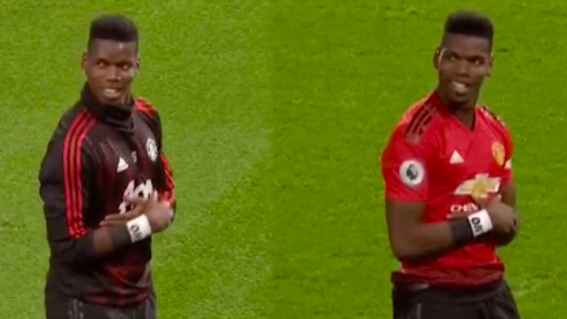 Paul Pogba Practiced His Goal Celebration In Pre-Match Warm Up