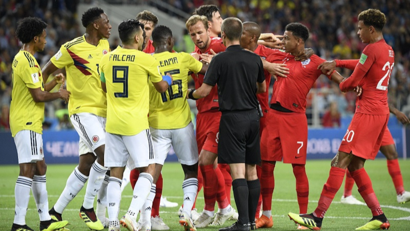 England Fans Fuming Over 'Disgusting' Behaviour Of Colombia Team