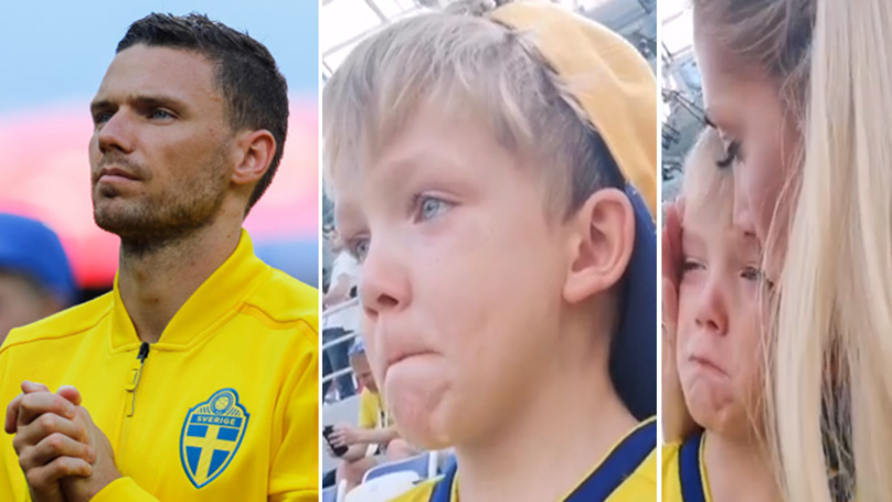 Marcus Berg's Son Is In Floods Of Tears As He Watches His Dad Make World Cup Debut