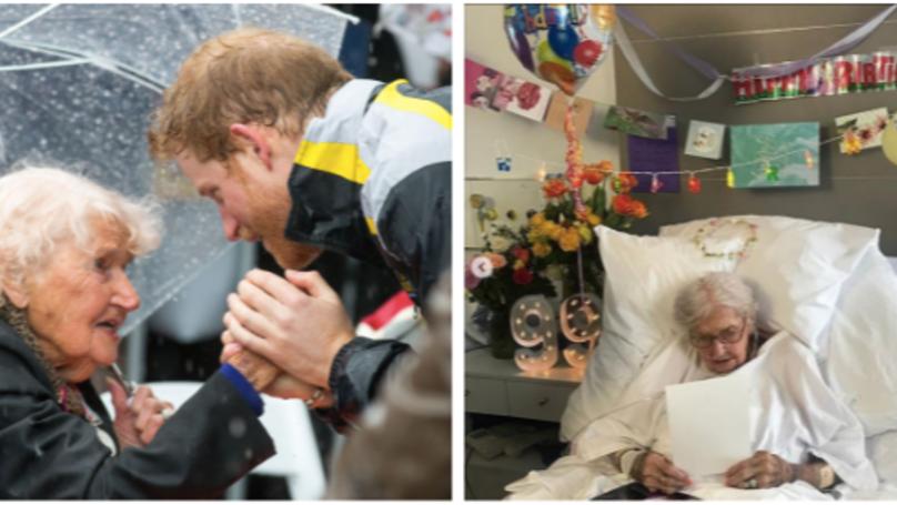 Prince Harry's Australian War Widow Friend Daphne Has Aged 99