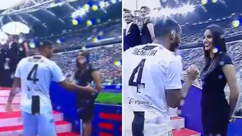 Watch: Mehdi Benatia Gets Pied Big-Time In Juventus' Scudetto Ceremony