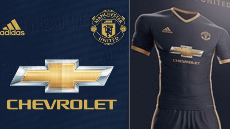 Manchester United's Leaked Midnight Blue And Gold Away Kit For Next Season Is Different Gravy