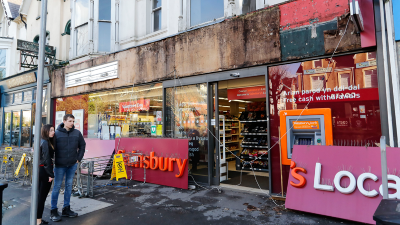​Woman Taken To Hospital After Sainsbury's Sign Falls On Her Head In Street