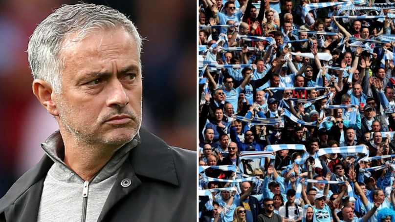 Manchester City Fans Chant 'Bring Back Mourinho' During Leicester City Match