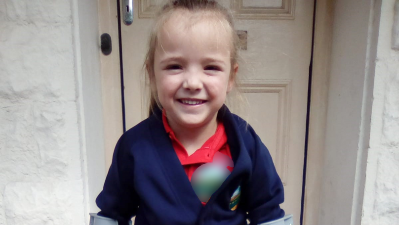 Girl With Cerebral Palsy Takes First Unaided Steps On Her First Day Of School