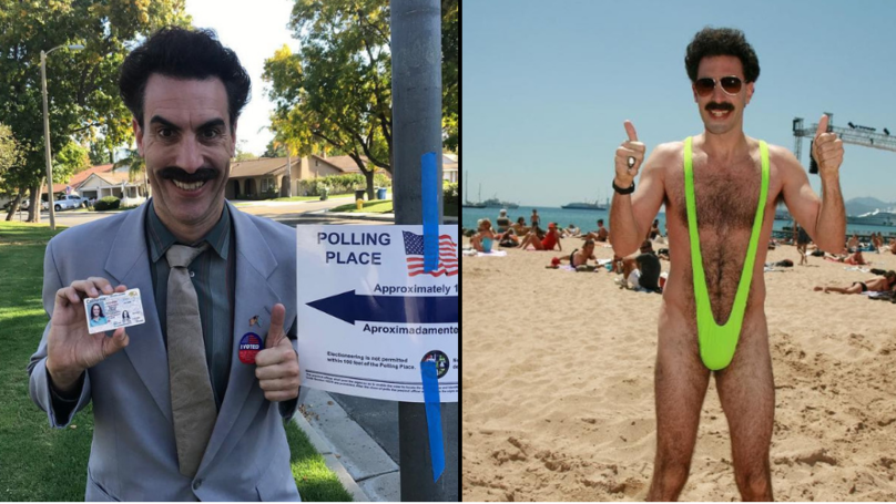 Sacha Baron Cohen Returns As Borat To Vote In US Midterm Elections