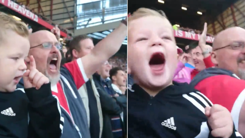 It Was This Kid's First Game At Old Trafford And His Reaction Is Priceless