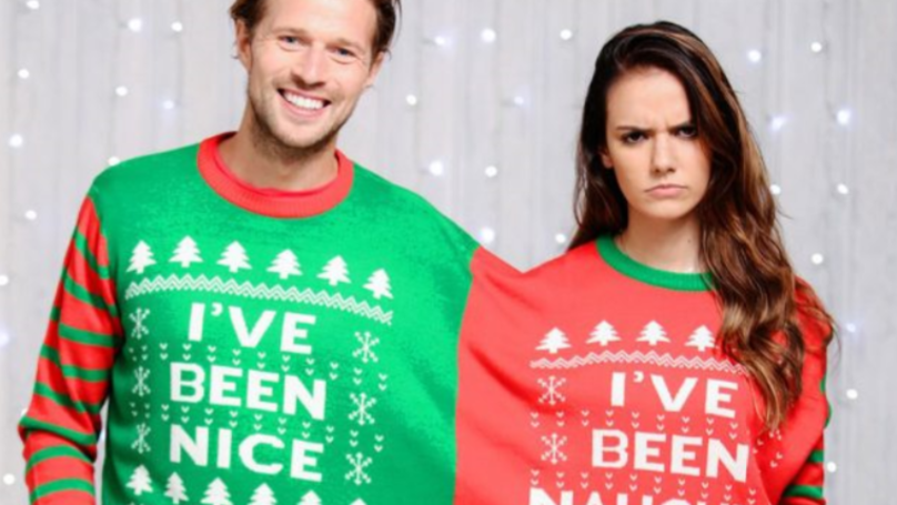 Never Leave Your Other Half's Side This Christmas With Conjoined Festive Jumpers