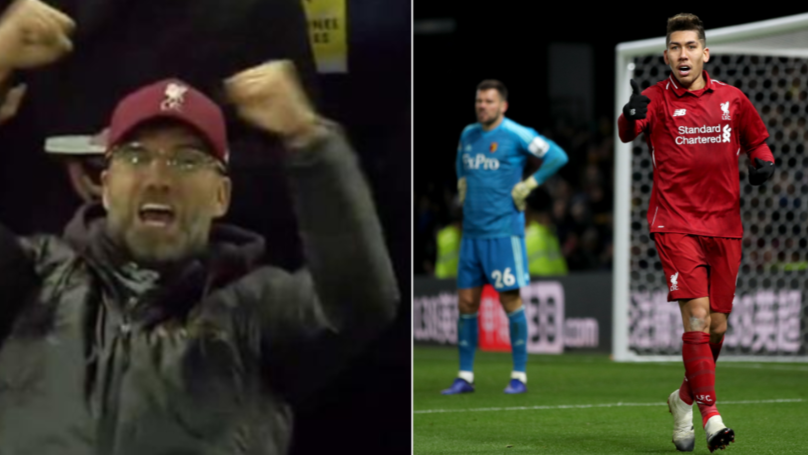 People Have Lipread What Jurgen Klopp Shouted While Celebrating Roberto Firminos Goal News World Bulletin
