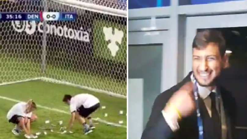 5ae1f393d WATCH  Donnarumma Had The Perfect Response To Having Fake Money Thrown At  Him