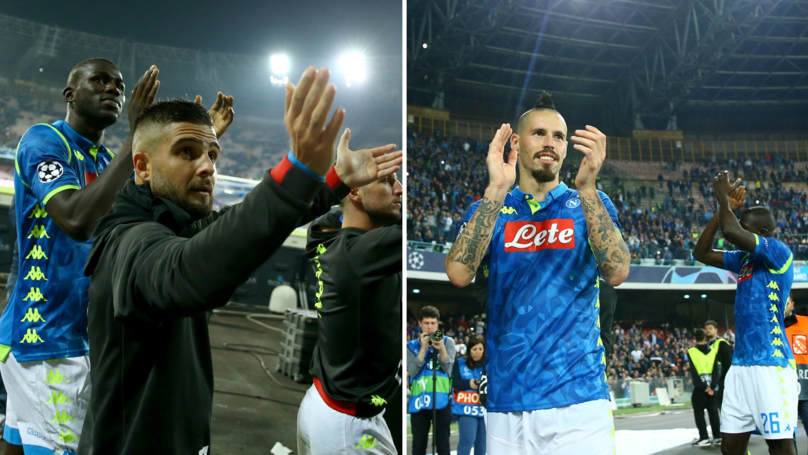 ‪Napoli Fans Singing Champions League Song Inside Stadio San Paolo Will Give You Goosebumps‬