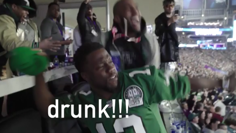 Kevin Hart Posts Behind The Scenes Footage Of Him Getting Rowdy At Super Bowl