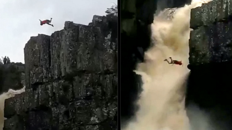 Man 'Lucky To Be Alive' After Backflipping Into Britain's Most Powerful Waterfall