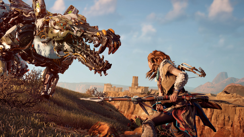 The Spear In 'Horizon Zero Dawn' Came From A 'God Of War' Developer