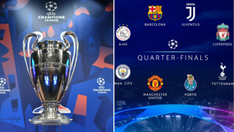 The 2018 19 Uefa Champions League Quarter Final Draw Confirmed