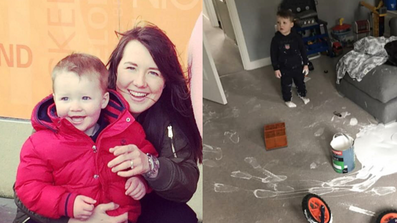 Toddler Ruins £4,000 Living Room In Five Minute Painting Spree