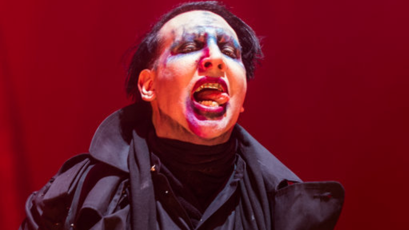Marilyn Manson Aims Fake Rifle At Crowd In City Of Mass Shooting