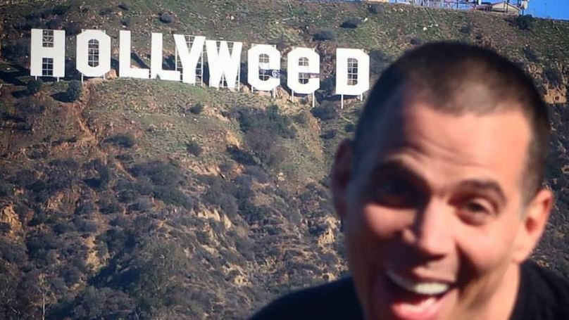 Steve-O Uploads Picture Of 'Hollyweed' Sign And, Yeah, It Could've Been Him