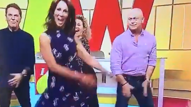 Ross Kemp Attempting The 'Floss Dance' On Live TV Is Just Incredible