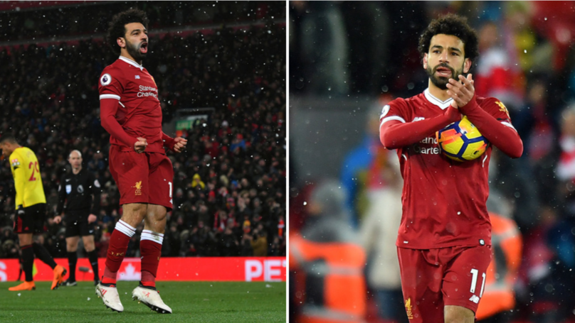 Mo Salah's 'Conversation' With Orestis Karnezis After Scoring Four Was Brilliant