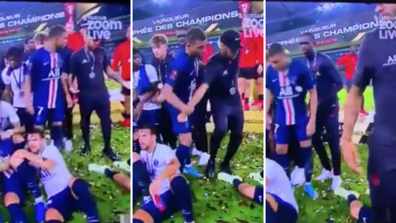 Kylian Mbappe Yanked Neymar Out Of PSG Team Photo After Winning French Super Cup
