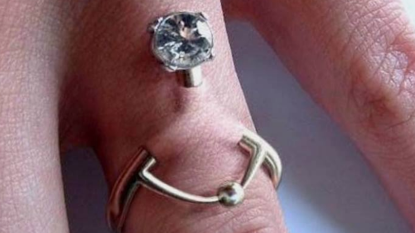 You can now get a hand piercing instead of a wedding ring ladbible you can now get a hand piercing instead of a wedding ring junglespirit Image collections